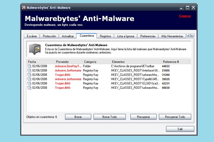 Сканирование на вирусы Malwarebytes Anti-malware