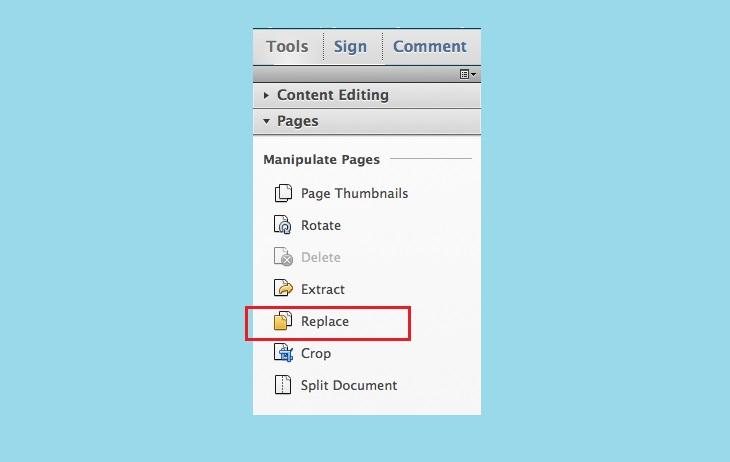 Заменить содержимое в Adobe Acrobat