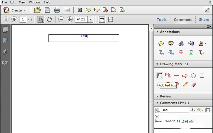 Новый текст в Adobe Acrobat
