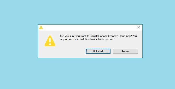 Удаление Adobe Creative Cloud с Виндовс