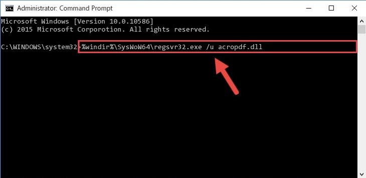 Удалить программу Adobe Reader через командную строку