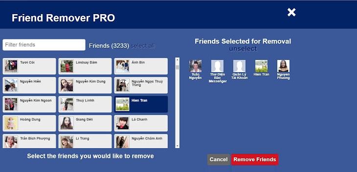 Программа для удаления друзей на фейсбуке