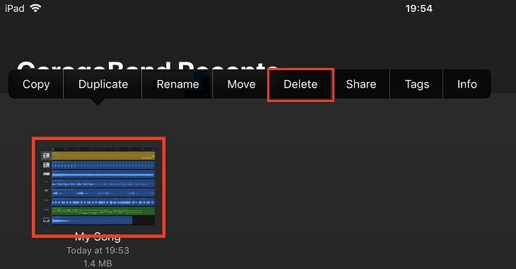 Удаление рингтонов через приложение GarageBand