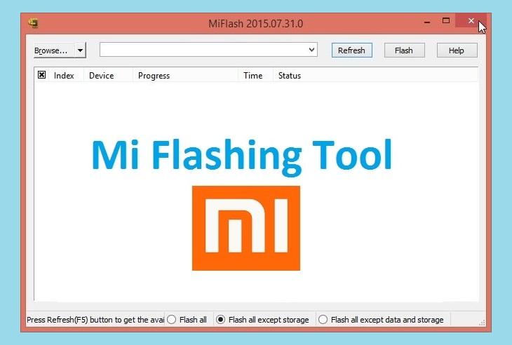 Xiaomi Flashing tool