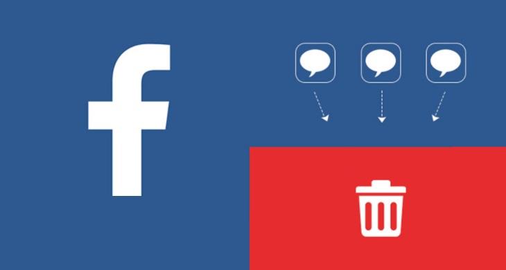 Как удалить сообщение в Фейсбук