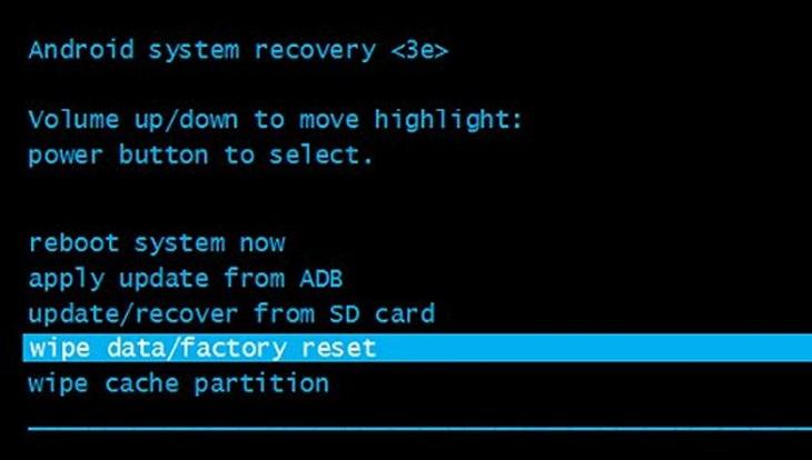 «Wipe data» и «Factory reset» в Андроиде