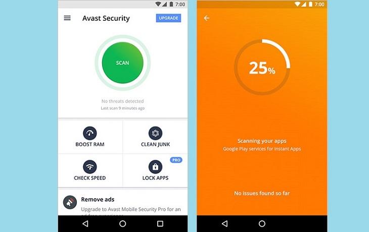 Программа Avast Mobile Security