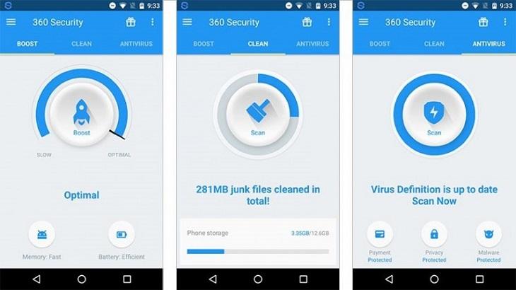Программа для смартфона 360 Security