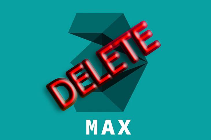 Как удалить 3D Max