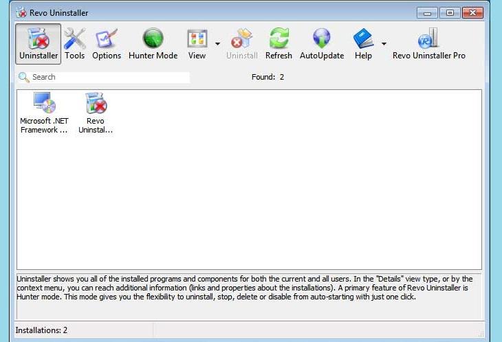 Удалить Anti malware при помощи Revo Uninstaller