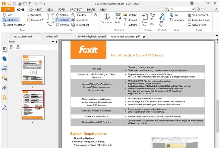 Работа в программе Foxit reader