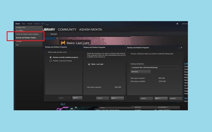Steam восстановить игру