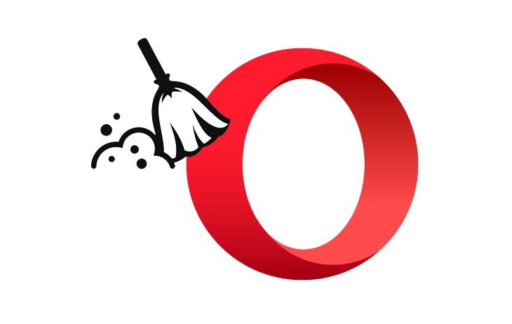 Как удалить историю в Опере