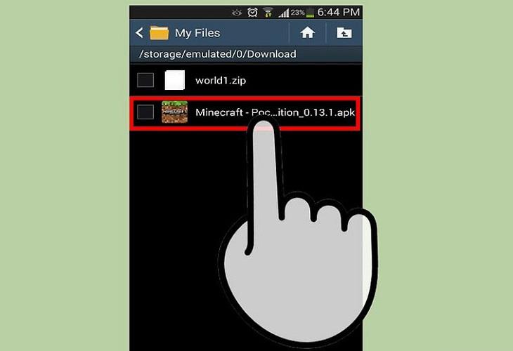 Удаление Майнкрафт с телефона