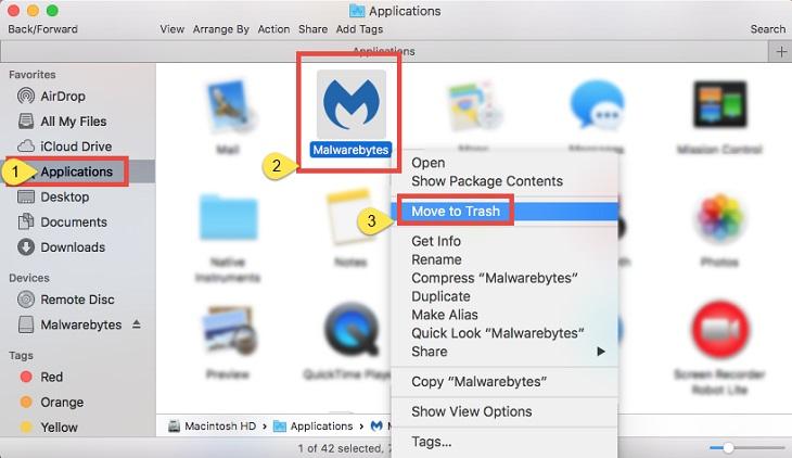 Как удалить Malwarebytes  на Макос