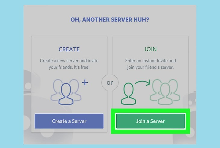 Join a serevr discord