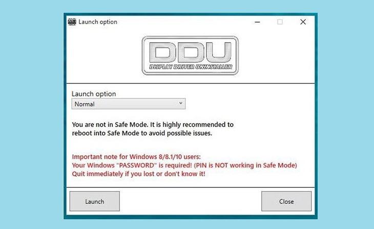 Безопасный режим Display_Driver_Uninstaller