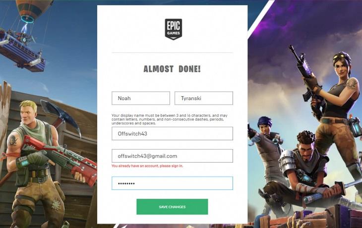 Объединение аккаунтов Epic games