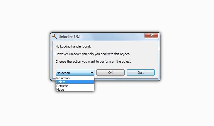 Удаление с помощью Unlocker