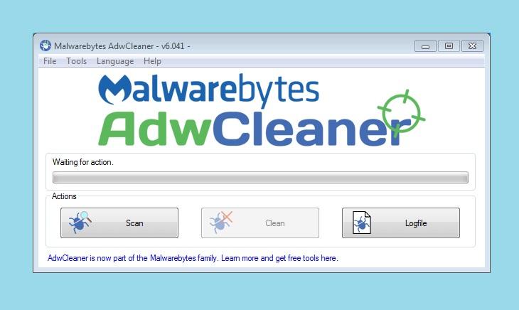 Сканирование компьютера в AdwCleaner