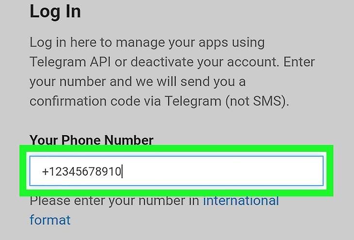 Номер телефона для удаления Телеграмм