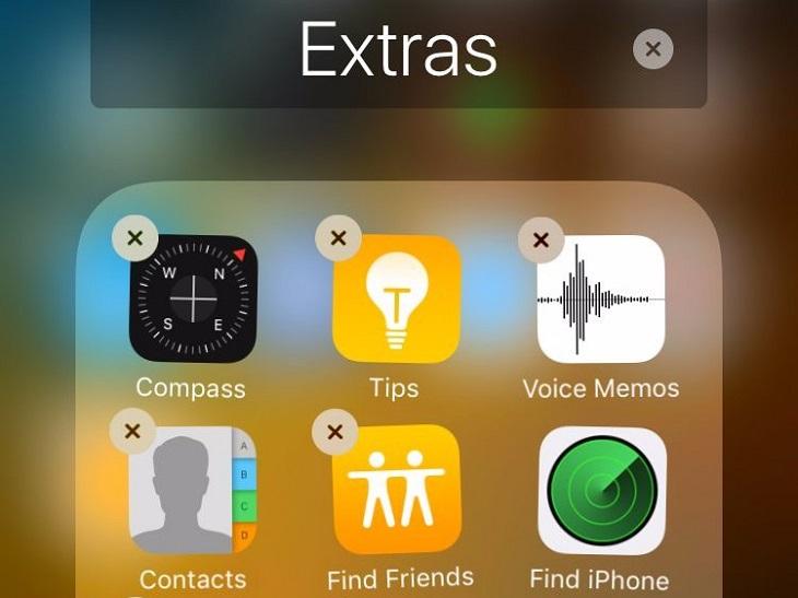 Удаление приложения на айфоне