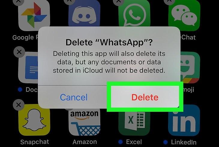 Удаление приложения WhatsApp