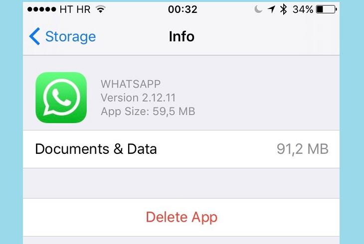 Удалить приложение Whatsapp с iPhone
