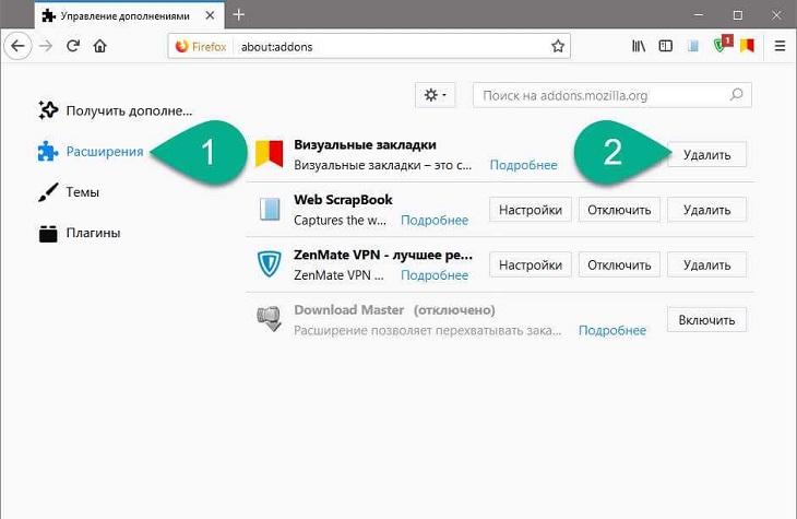 Визуальные закладки Яндекс в Мозилла