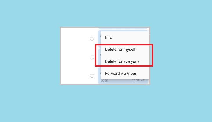 Удаление сообщения Viber на компьютере