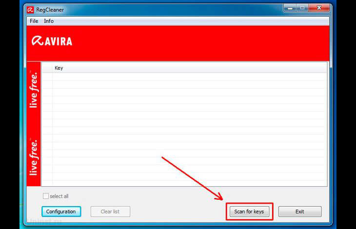 Avira Registry Cleaner
